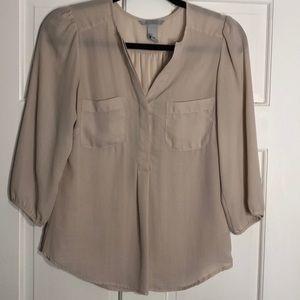 3/4 sleeve pocket blouse